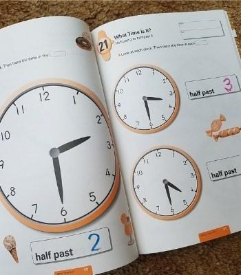 telling time large clocks